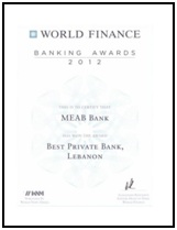 Best Private Bank in Lebanon (2012)